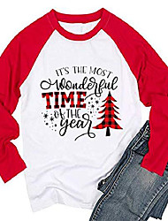 cheap -it's the most wonderful time of the year shirts womens casual long sleeve raglan tees tops red