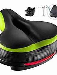 cheap -bike seat, most comfortable bicycle seat dual shock absorbing memory foam waterproof bicycle saddle bike seat replacement with refective tape for mountain bikes, road bikes