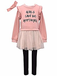 cheap -girl power outfit - girls can do anything leggings set, pink and black, 2t
