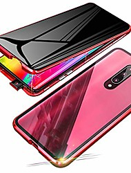 cheap -anti-spy case for xiaomi mi 9t pro (6.39 inch),  360 degree front and back privacy tempered glass cover, anti peeping screen, magnetic adsorption metal bumper for xiaomi mi 9t (red)