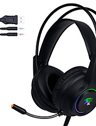 cheap -Gaming Earphones with Mic Wired Headset Stereo Sound Game Headphone for PC Gamer Computer Laptop PS4 LED RGB Light