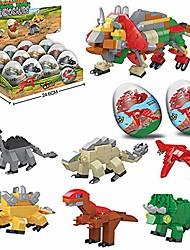 cheap -dinosaur toys, 12 mini dinosaur eggs building blocks toys 6 in 1 educational toys christmas birthday present dinosaurs theme party favors & party supplies gifts set for kids boys girls (12pcs)