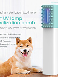 cheap -Pets Cleaning Silica Gel Comb Dog Clean Supply Portable Pet Grooming Supplies White
