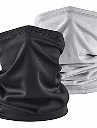 cheap -sun uv protection neck gaiter bandana face cover scarf headwear headband men/women for fishing cycling running(2pcs black+lightgray)