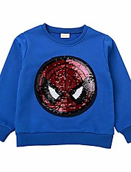 cheap -boys children's filp magic sequins sweatshirt cotton pullover tops