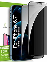 cheap -2 pack privacy screen protector for iphone 12 pro max, premium 4d curved edge to edge full coverage privacy tempered glass screen protector for apple iphone 12 pro max