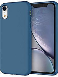 cheap -silicone case for iphone xr, 6.1-inch, silky-soft touch full-body protective case, shockproof cover with microfiber lining, blue cobalt