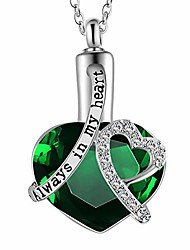 cheap -heart-shaped perfume bottle pet ashes urn pendant necklace always in my heart
