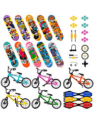 cheap -53 pcs Finger skateboards Mini fingerboards Finger bikes Finger Toys Plastics Alloy Office Desk Toys with Replacement Wheels and Tools Party Favors Kid's Adults All Party Favors  for Kid's Gifts
