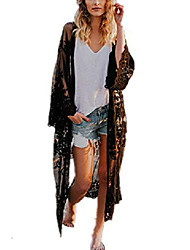 cheap -women's bathing suit kimono beach cover up lace crochet pool swimwear