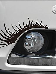 cheap -1Pair 3D Charming Eyelashes car Sticker Fake Eye Lash Car Headlight Funny Decals Door Window Vinyl Waterproof Product 25x11CM