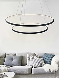 cheap -2-Light 80(32'') Dimmable / LED Pendant Light Metal Acrylic Circle Painted Finishes Modern Contemporary 110-120V / 220-240V