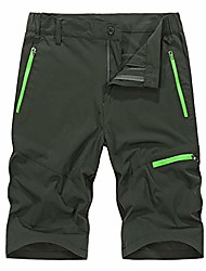 """cheap -fashion outdoor zipper pockets 9"""" inseam shorts for men casual sport beach trunks knee length comfy hiking pants army green"""