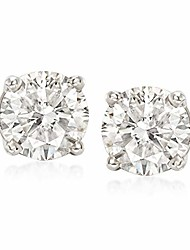 cheap -3.00 ct. t.w. cz stud earrings in 14kt white gold