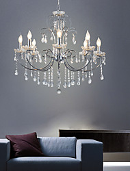 cheap -8-Light American crystal for Mini Chandelier simple dining room living room bedroom lamp post modern light luxury Iron Candle clothing store lamp