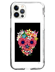 cheap -Cool Skull Print Case for iPhone 12 11 SE2020 Unique Design Protective Clear Case Shockproof Hot Style Back Cover TPU for iPhone 12 Pro Max XR XS Max iPhone 8 Plus 7