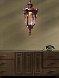 "cheap -1-Light 17(7"") Mini Style Pendant Light Glass Lantern Bronze Country / Lantern 110-120V / 220-240V"
