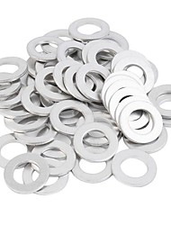 cheap -100Pcs Oil Drain Plug Washer Metal Gaskets (90430-12027) For Toyota