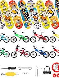 cheap -31 pcs Finger skateboards Mini fingerboards Finger bikes Finger Toys Plastics Alloy Office Desk Toys with Replacement Wheels and Tools Party Favors Kid's Adults All Party Favors  for Kid's Gifts