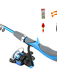 cheap -Fishing Rod and Reel Combo Casting Rod 130 cm Portable Telescopic Lightweight Extra Heavy (XH) Sea Fishing Bait Casting Freshwater Fishing / Trolling & Boat Fishing