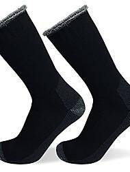 cheap -well knitting 2pairs mens heavy duty merino wool blend outdoor working hiking socks (black 11-14)