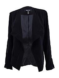 cheap -women's wing-collar cutout blazer (12, black)