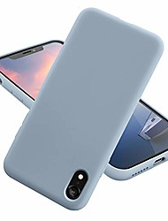 cheap -iphone xr case,ultra-thin shockproof silky-soft touch microfiber lining premium soft silicone rubber full body protection case cover for apple iphone xr (blue grey)