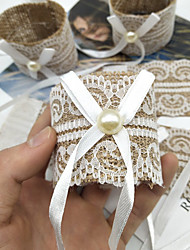 cheap -Napkin Rings Set of 5 for Wedding, Christmas, Dinner Parties, Dinning Table Decoration Handmade Lace Napkin Holder White