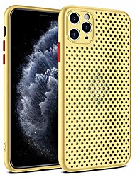 cheap -yesun k simple for iphone 11 pro x xr xs max (11 pro,5.8 inch) contrast color mesh breathable heat dissipation phone case, hollow back lens all-inclusive game soft shell (yellow, iphone x/xs)