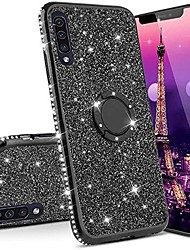 cheap -Phone Case For Samsung Galaxy Silicone with Stand Glitter Shine