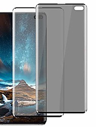 cheap -[2 pack] for samsung galaxy s10 plus 5g tempered glass screen protector + privacy screen protector [hd clear] [anti-spy] [9h hardness] [sensitive touch] [3d full edge cover] [case friendly] (6.4 inch)