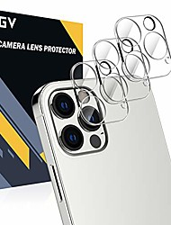 cheap -3 pack camera lens protector compatible with iphone 12 pro max 5g 6.7-inch, hd clear tempered glass back camera protector, case friendly, ultra-thin, easy installation