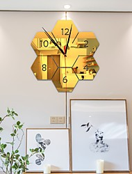 cheap -DIY Digital Wall Clock 3D Mirror Surface Sticker Silent Clock Home Office Decor Wall Clock for Bedroom Office