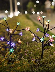 cheap -2 Packs Solar Flower Lights with 20 Cherry Blossom Solar Fairy Lights Waterproof Multi-Color Solar Powered Garden Lights for Christmas Decor