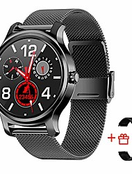 cheap -smart watch men women waterproof for android and ios phones, sport and fitness tracking smartwatch with step counter, heart rate tracker, text and call notification, round face, black