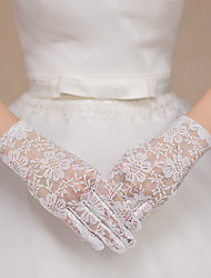 cheap -Lace Wrist Length Glove Lace / Gloves With Appliques