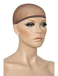 cheap -3 pack mesh net wig cap liner dark brown