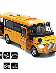 cheap -school bus toy die cast vehicles yellow large alloy pull back 9'' play bus with sounds and lights for kids