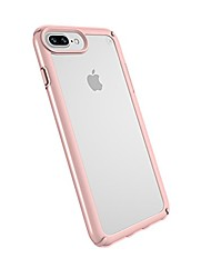 cheap -iphone 8 plus presidio show case, show off your phone and stay protected with impactium 10-feet drop protection, clear/rose gold