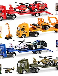cheap -almost kids toys 4-pieces set children alloy engineering car toy mini simulation car model toys vehicle playsets
