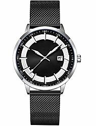 cheap -fashion mens casual fashion watches original design watch men steel mesh men's watch clock relogio masculino water resistant wristwatch