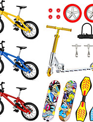 cheap -18 pcs Finger skateboards Mini fingerboards Finger bikes Finger Toys Plastics Alloy Office Desk Toys with Replacement Wheels and Tools Party Favors Kid's Adults All Party Favors  for Kid's Gifts
