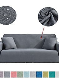 cheap -Sofa Cover Solid Colored Embossed Polyester Slipcovers