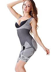 cheap -womens bamboo charcoal waist cincher full body shaper shapewear bodysuit