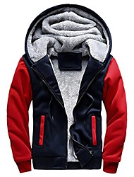 cheap -men hoodie, ღ ღ autumn&winter warm fleece zipper jacket outwear coat (xxxxl, black 1)