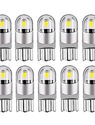 cheap -10PCS 2020 New T10 W5W WY5W 168 501 2825 COB LED Car Wedge Parking Light Side Door Bulb Instrument Lamp Auto License Plate Light