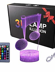 cheap -Visual 3D Illusion Lamp Music Note Gifts for Music Lover LED 7 Color Changing Smart Touch Night Light for Children Gift (Note)