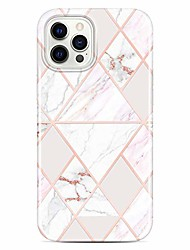 cheap -shiny rose gold metallic case compatible with iphone 12 and iphone 12 pro marble design clear bumper tpu soft rubber silicone cover phone case 6.1 inch white pink