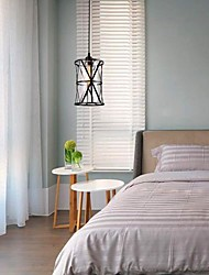 cheap -17cm LED Pendant Light Modern Nordic Glass Vintage Single Design Metal Black Bedside Light Dining Room Restaurant Bar 110-120V 220-240V