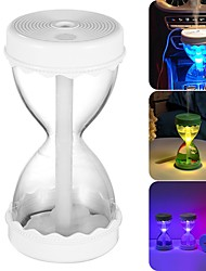 cheap -300ML Hourglass Humidifier USB Mini Air Purifier Humidification Spray Diffuser With Night Light For Car Home Office